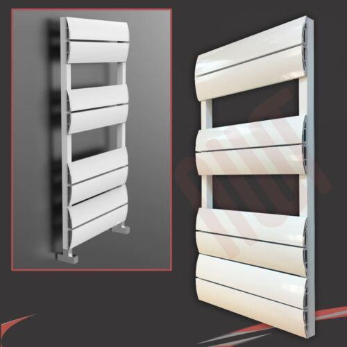 "500 mm 2362 BTU H /""WAVE/"" blanc Designer Aluminium Porte-serviettes W x 1000 mm"