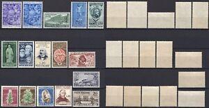 836-Repubblica-Lotto-di-16-francobolli-1950-Nuovi-MNH