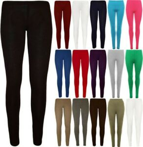 961ff47a Image is loading Girls-Plain-Leggings-Kids-Children-Teen-Basic-Stretchy-