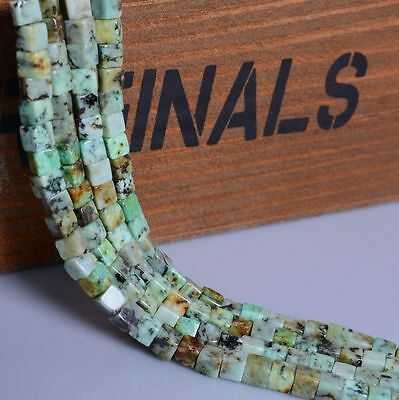 """0136 4mm Natural Gemstone African turquoise cube loose beads 15"""""""