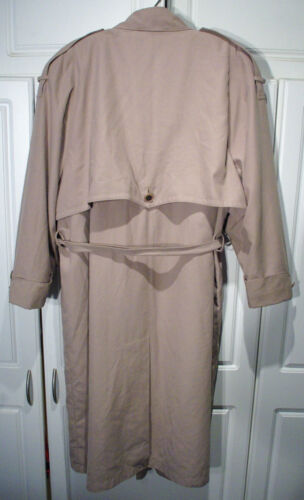 Out Trench Coat Beige Stevens Microfiber Long Zip Foder Størrelse Valarie 10p qTw146