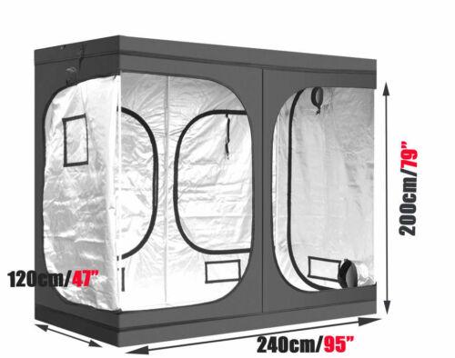 Indoor Portable Grow Tent Box Silver Mylar Hydroponics Bud Green Room New Design