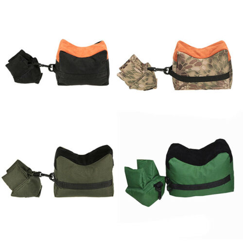 Hunting Shooting Range Sand Bag Rifle Target Bench Rest Stand Front /& Rear Bags
