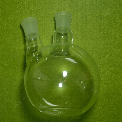 1000ml 2 neck flat bottom Boiling Flask,24/29 joint,Glass flask,lab glassware