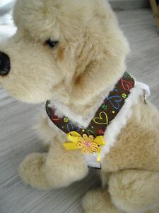 Hundegeschirr-Umfang-30-37-cm-Hundehalsband-Hundebekleidung-Geschirr-Handarbeit