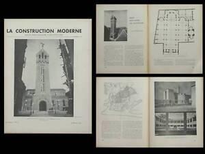 Stable Construction Moderne N°21 1936 Paris Eglise Batignolles, Sabaudia Italie Dans La Douleur