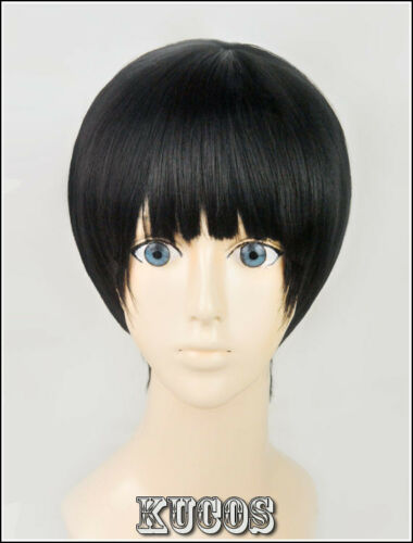 553 Beyond the Boundary//Kyoukai no Kanata Nase Hiroomi Short Black Cosplay Wig