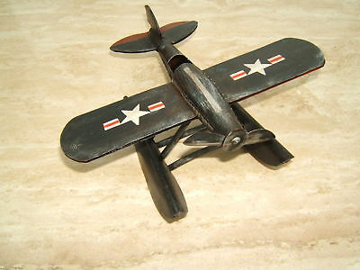 Handmade American flag Biplane Tinplate Antique Style Metal Model