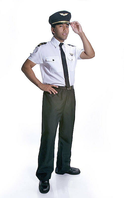 Adult Realistic Looking Fancy Pilot Dressup Costume Set by Dress Up America