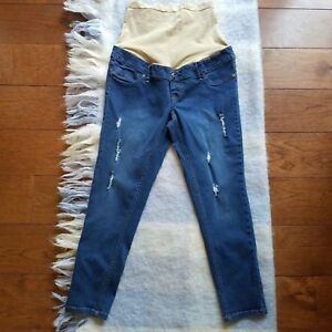 4f0769cd755a0 Image is loading Planet-Motherhood-Maternity-Distressed-Skinny-Jeans -Size-Medium-