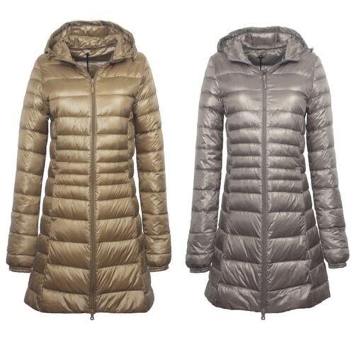 Puffa Parka cappuccio invernale da donna Piumino con lungo Piumino trapuntato imbottito ICX7x