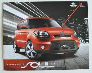 kia soul 2010 dealer brochure catalog - french - canada   ebay