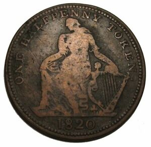 Canada-1820-Trade-And-Navigation-One-Half-Penny-Token-Breton-894