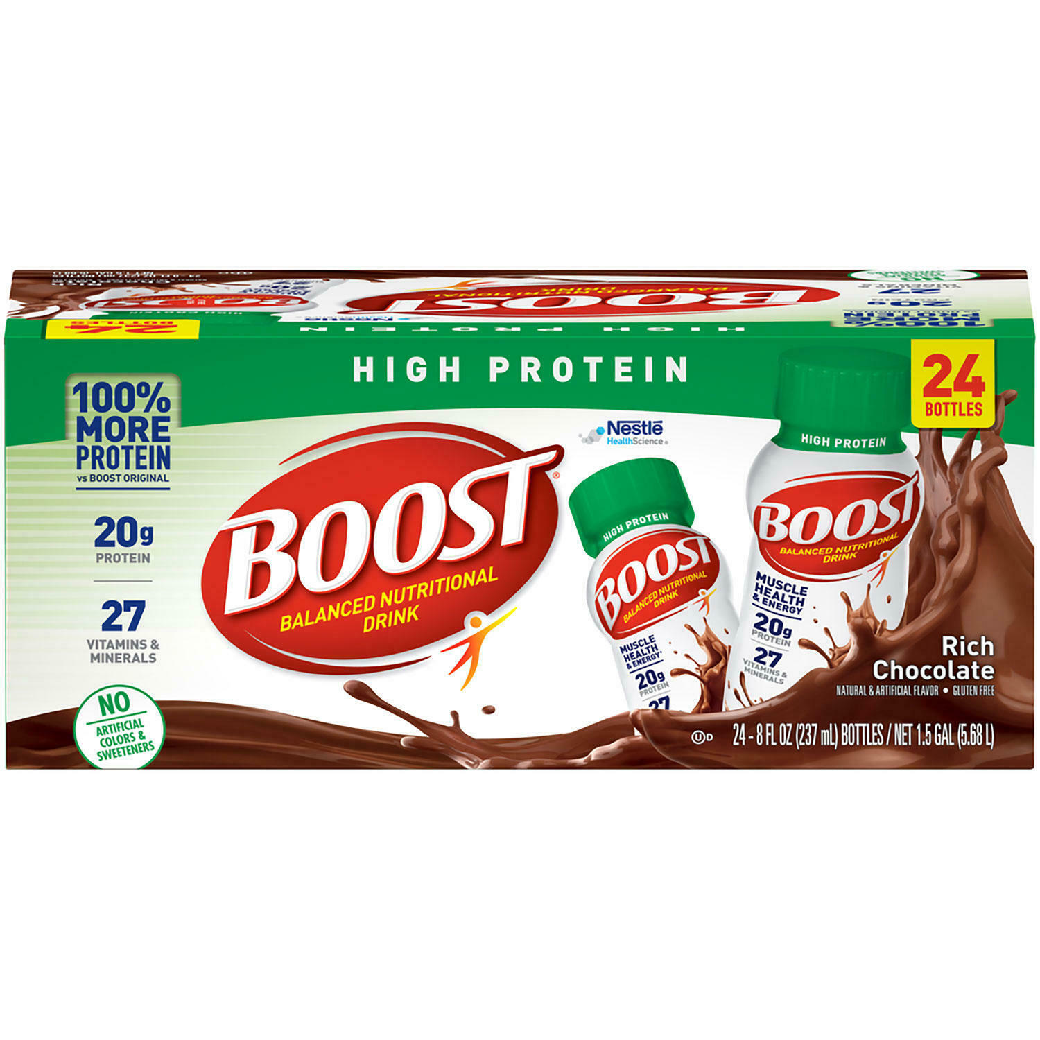 BOOST High Protein Drink, Chocolate (24 pk.) FREE N FAST SHIPPING