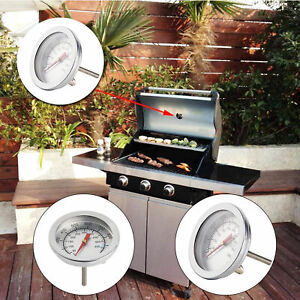 100-500-CBarbecue-BBQ-Smoker-Oven-Grill-Stainless-Steel-Thermometer-Temp-Gauge