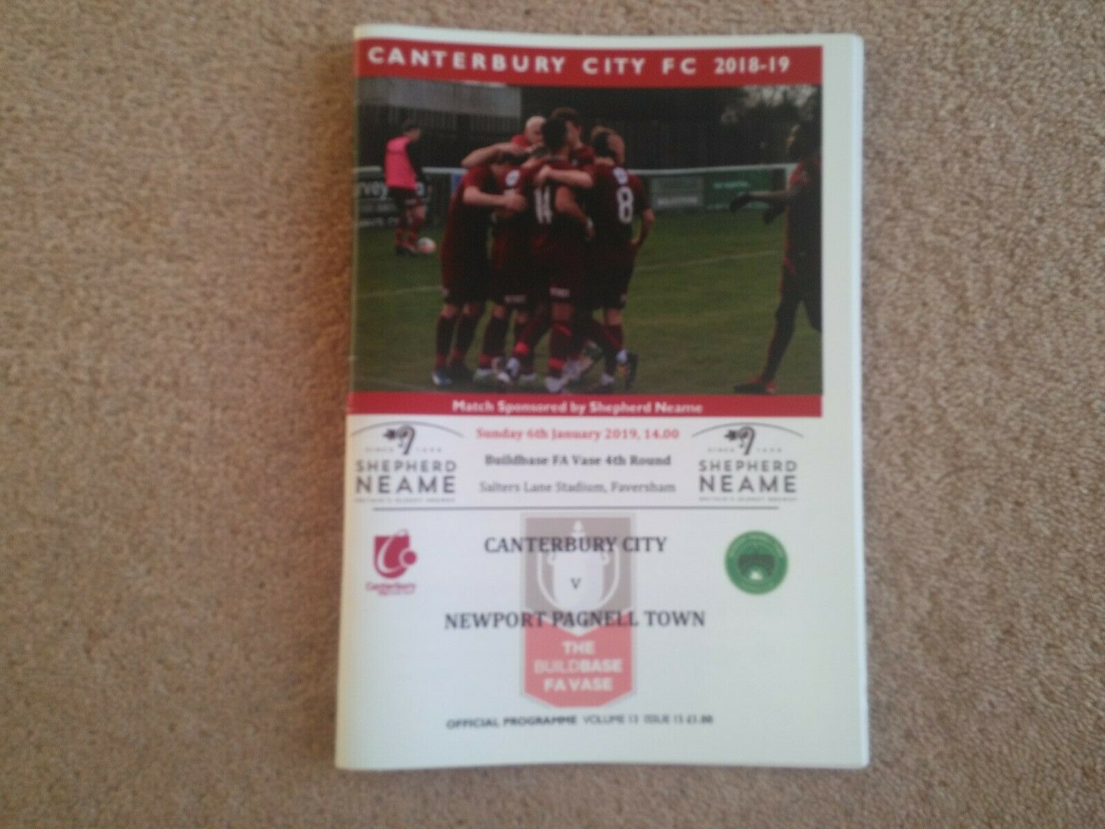 Image 1 - CANTERBURY-CITY-v-NEWPORT-PAGNELL-TOWN-FA-Vase-Fourth-Round-2018-19