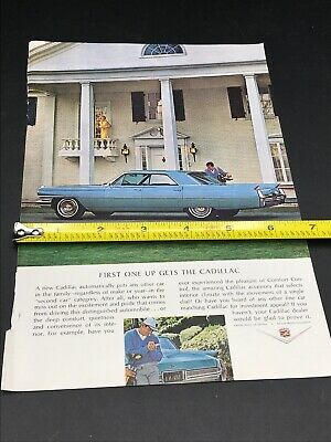 GM general motors company classic old photo advertisement parts print brochure dealer dealership us Large Car Ad 1964 Pontiac Grand Prix