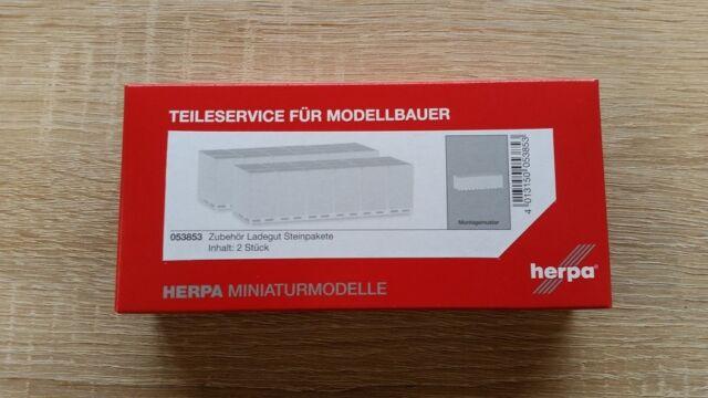 Neu 2 Stück Herpa Minikit 053853-1//87 Zubehör Ladegut Steinpakete
