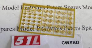 13 Pair 51L CWSBD Brass Gauge Dial Pk9 3mm Small Hand Wheels 2mm 10 Pairs