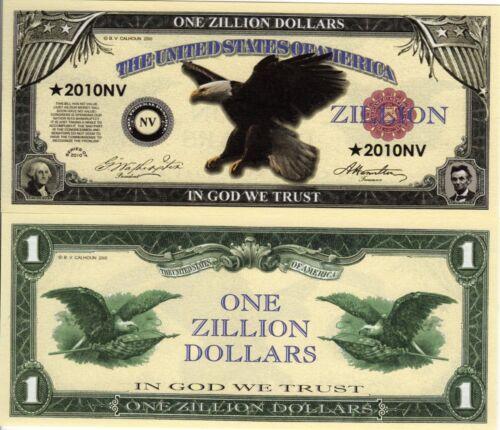 American Eagle Zillion Dollar Novelty Money