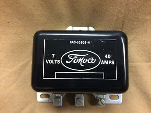 1949-1955-Ford-Thunderbird-Mercury-NOS-6V-voltage-regulator-with-FoMoCo-and