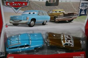 DISNEY-PIXAR-CARS-3-034-2-PACK-MRS-THE-KING-amp-TEX-DINOCO-034-IMPERFECT-PACKAGE-SHIPWW
