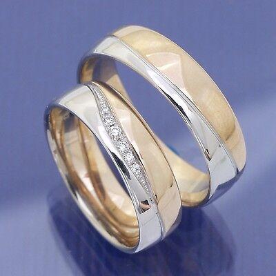 Bicolor Trauringe | Eheringe | Hochzeitsringe Aus 585 Weissgold Und Rotgold