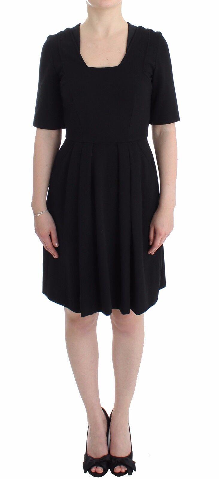 nouveau Co te robe noir à hommeches courtes Vénus Maj gaine solide S. IT40 US 6