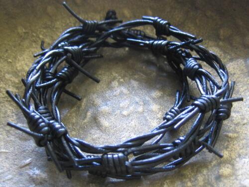 Barbed Wire Leather Wrist Band Mens Bracelet Surfer Style Men/'s Vintage