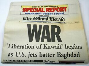 The-Miami-Herald-Operation-Desert-Storm-Iraq-War-Jan-17-1991-Complete-Newspaper