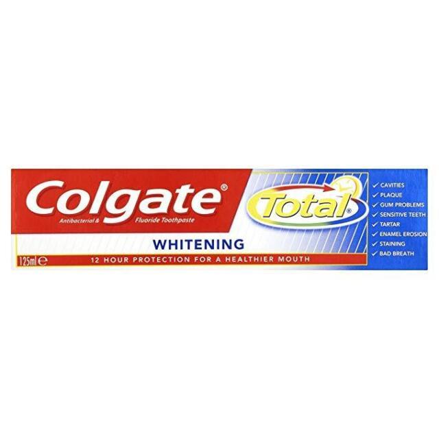 3x Colgate Total Advanced Whitening Toothpaste Tube (125ml)