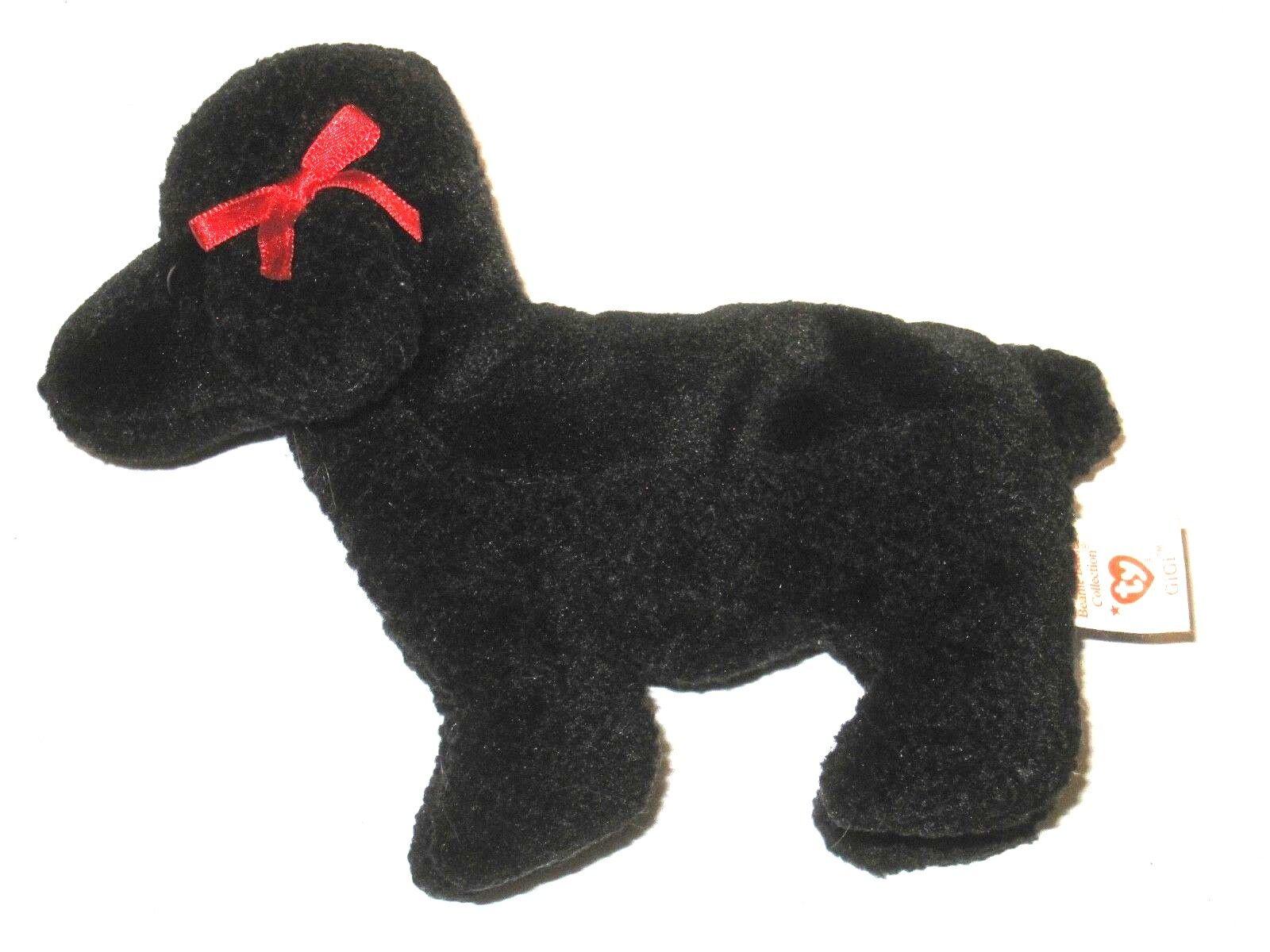Ty beanie baby original gigi pudel hund pe pellets in den ruhestand 1998