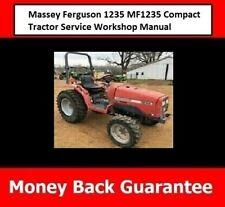 Massey Ferguson 1235 Mf1235 Compact Tractor Service Workshop Manual