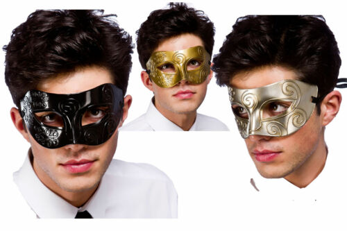 Mens Adult Antique Gladiator Roman Mystery Masquerade Ball Eye Mask New