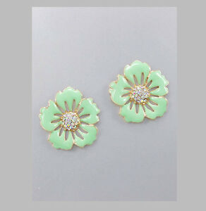 Image Is Loading Marni H Amp M Green Flower Earrings