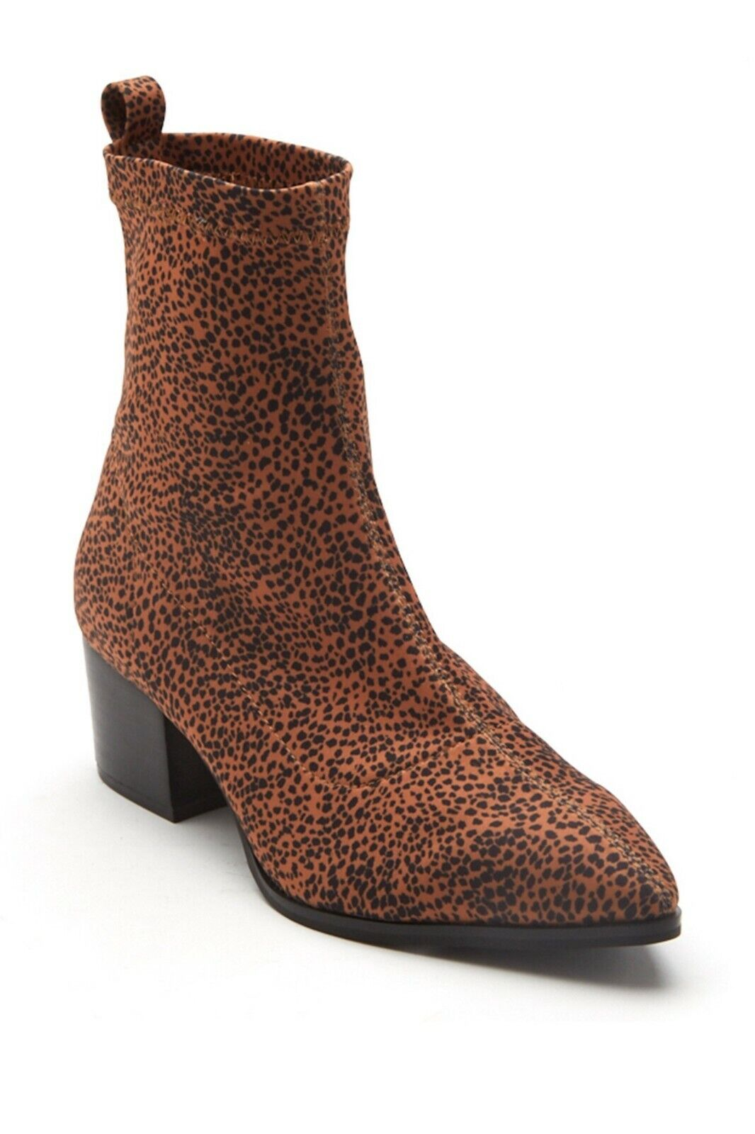 Amuse Society x MATISSE Liliana Brown Animal Print Sock Ankle Bootie Sz 5 NIB