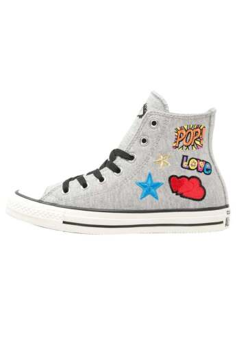 in Grigio 155109c melange pile Patch Star Patch Hi Converse All wxYqIBPZW4