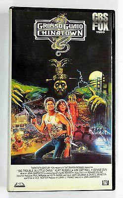 GROSSO GUAIO A CHINATOWN Kurt Russell VHS 1990 CBS Fox