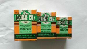 BHAWSAR-Ayurvedic-JAKHME-RUZ-10-GM-Pink-Ointment-Burns-Itches-Scabies-Piles-UK