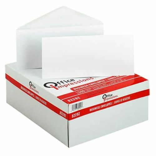 """Office Impressions Plain Windowless Envelope 4-1//8/"""" x 9-1//2/"""" White 500ct OFF ..."""