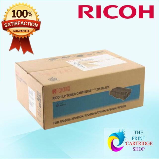 New & Original Ricoh 400788 Type 215 Black Toner Cartridge AP2600 AP2600N AP261
