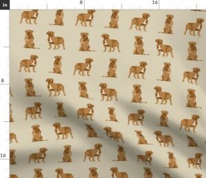French Mastiff Simple Dog Breed Tan Dogs Pet Spoonflower Fabric by the Yard