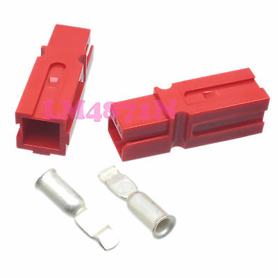 2pcs solar product DC Power box 2-pole 45A AMP Connector Black socket /& 16-20AWG