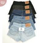 Vintage Pour Femmes Levis Short Jeans (CLASSE B) Taille Haute 6 8 10 12 14