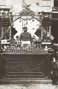 STAMPA-FOTO-ALINARI-CHIOSCO-DI-UN-ACQUAIOLO-A-NAPOLI-1890-ca