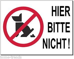 Hier Bitte Nicht-aluminium-edelstahl-optik-schild-15 X 10cm-warnschild-hund-top Haustierbedarf Möbel & Wohnen