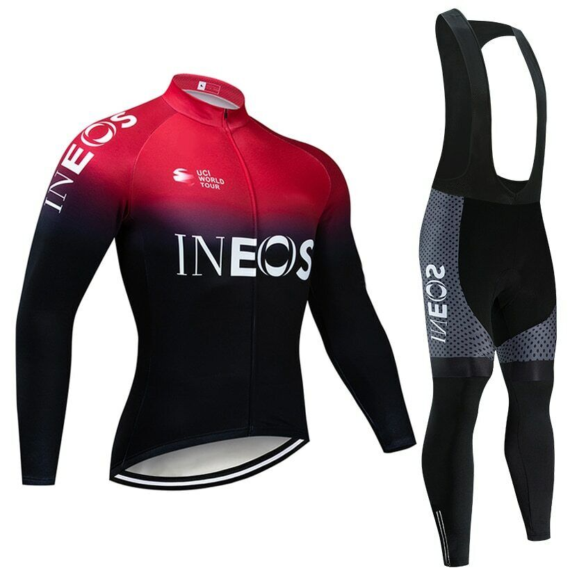 2019 INEOS squadra ciclismo JERSEY 20D bicicletta pants set Ropa Ciclismo uomini Winter