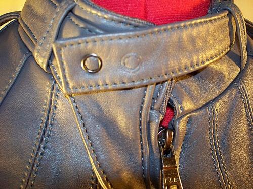 gris se Knoles Veste italien cuir comme carter S sent la taille 100 d'agneau moto YY8Hpq