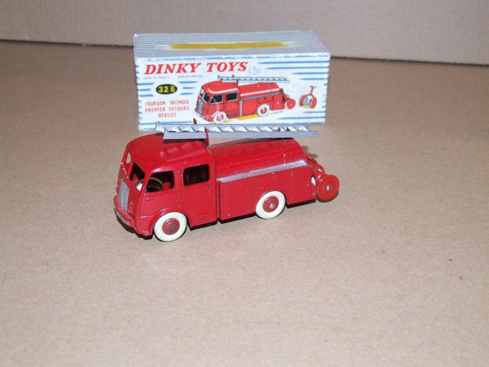 Francés Dinky 32e FOURGON incendio Premier Berliet primera respuesta Camión De Bomberos A +