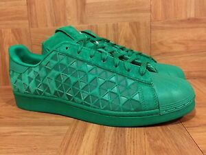 RARE? Adidas Originals Superstar XENO Fresh Green Cloak Reflective High Sz 12